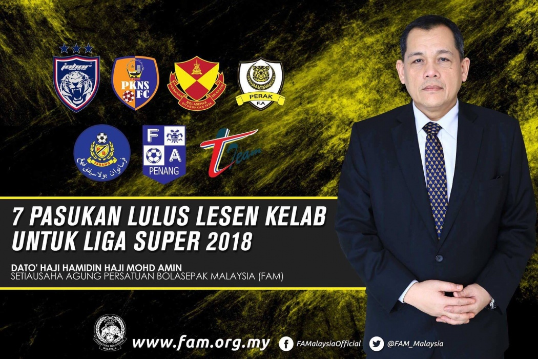 7 Pasukan Layak Bertanding Liga Super 2018