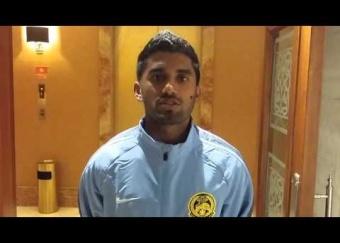 Ucapan Hari Deepavali pemain sayap Harimau Malaya, S Chanthuru dari Amman, Jordan