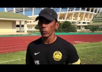 Komen jurulatih Harimau Muda C, Hassan Sazali Waras (21 Ogos 2015)